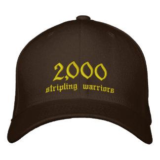 2.000, Striplings-Krieger Bestickte Baseballkappe