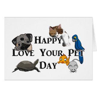 2-20 Liebe Ihr Haustier-Tag Karte