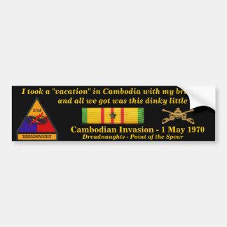 2/34th Rüstungs-Kambodschaner-Ferien Autoaufkleber