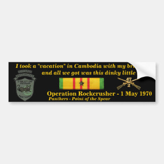 2/47th Kambodschanische Ferien Autoaufkleber