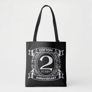 2. beunruhigtes Wappen des Hochzeitsjahrestages Tasche