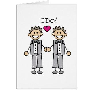2 Bräutigame Grußkarte