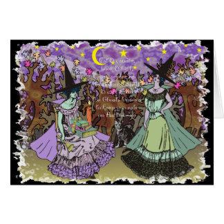 2 Edwardian Hexen in einem Spuk Wald Karte