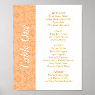 2 Empfangs-Tabellen-Deckel u. Menüs der Hochzeits- Poster