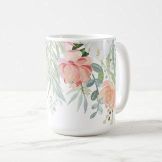 #2 erblassen das Blumen Pfirsich-weises Kaffeetasse
