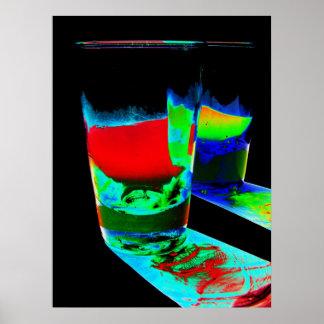 2 farbige Cocktail-Schnapsglas - Art 1 Posterdrucke