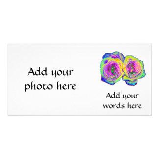 2 farbige Folien-Rosen (#1) Karte