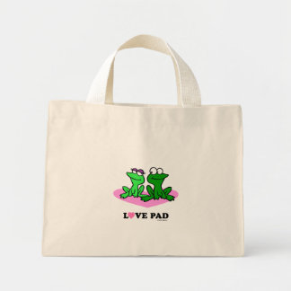 2 Frosch-Liebe-Auflage-Licht-Taschen Mini Stoffbeutel