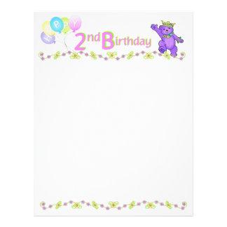2. Geburtstags-Bärn-kundenspezifisches Einklebebuc 21,6 X 27,9 Cm Flyer