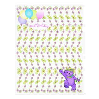 2. Geburtstags-Bärn-kundenspezifisches Einklebebuc Bedruckte Flyer