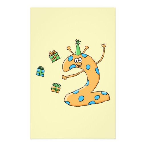 2. Geburtstags-Cartoon - Orange Flyerbedruckung