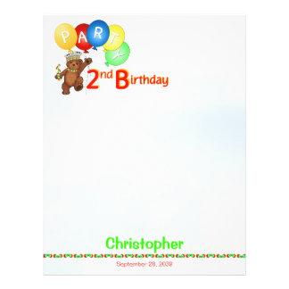 2. Geburtstags-Party-königliches Bärn-Einklebebuch Custom Flyer