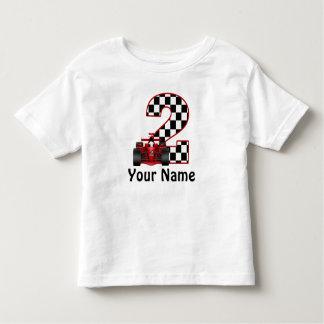 2. Geburtstags-Rennen-Auto-personalisiertes Shirt