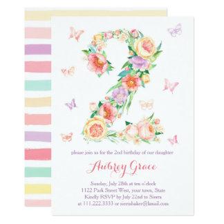 2. Geburtstags-Schmetterlings-Garten-Party laden Karte