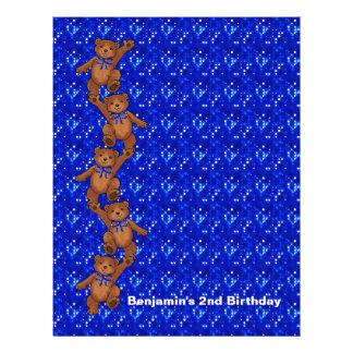 2. Geburtstags-Tanzen-Bärn-Einklebebuch-Papier 2 Flyerbedruckung