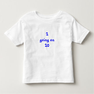 2 gehend auf Blau 20 Kleinkind T-shirt