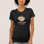 2. Grad Lehrer-Farben-Spritzer-Apple-T-Shirt