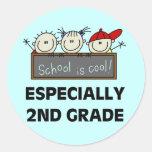 2. Grad-Schule ist coole T-Shirts und Geschenke Sticker