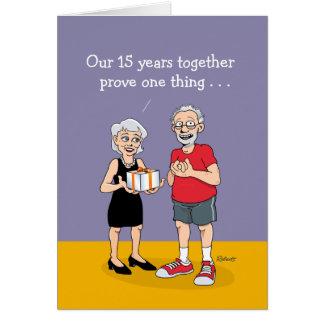 2. Heirat-Jahrestag Karte