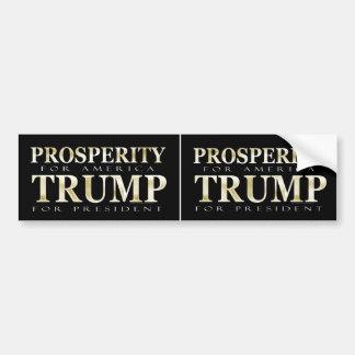 2 herauf Wohlstands-Goldeffekt Donald Trump 2016 Autoaufkleber