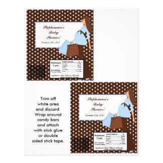 2 Hersheys große Bar-Verpackungs-blaue Mod-Mamma-P Vollfarbige Flyer