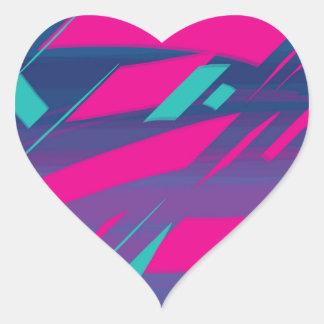 2 Herz-Aufkleber