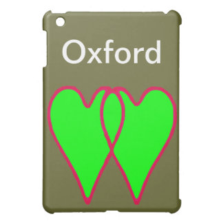 2 Herzen grünen zusammen die MUSEUM Zazzle iPad Mini Hülle