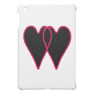 2 Herzen schwärzen zusammen die MUSEUM Zazzle Gesc Hüllen Für iPad Mini