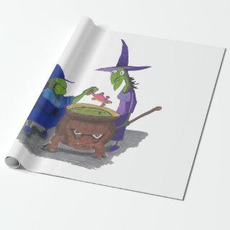 2 Hexen, die herauf Trank im Großen Kessel Geschenkpapier