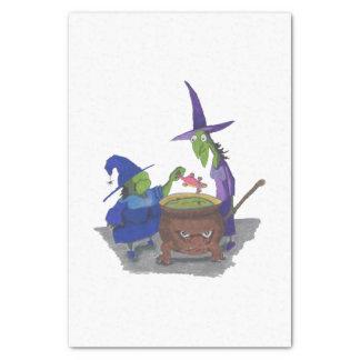 2 Hexen, die herauf Trank im Großen Kessel Seidenpapier