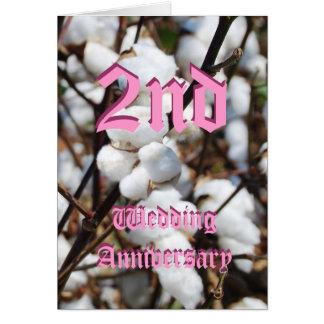 2. Hochzeitstagkarte - Baumwolle Grußkarte