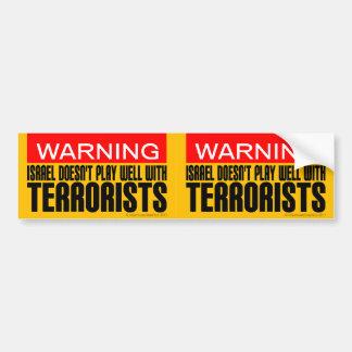 2 in-1 Israel spielt gut nicht mit Terroristen Autoaufkleber