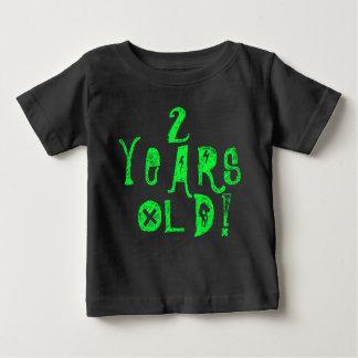 2 Jahre Neonschädel-Felsen des alten niedlichen Baby T-shirt
