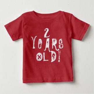 2 Jahre rote Schädel-Felsen des alten niedlichen Baby T-shirt