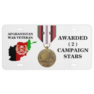 2 KAMPAGNEN-STERN-AFGHANISTAN-KRIEGSVETERAN US NUMMERNSCHILD