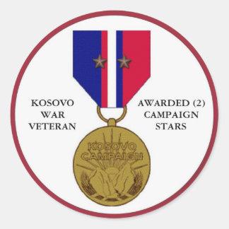 2 KAMPAGNEN-STERN-KOSOVO-KRIEGSVETERAN RUNDER AUFKLEBER