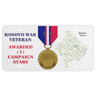 2 KAMPAGNEN-STERN-KOSOVO-KRIEGSVETERAN US NUMMERNSCHILD