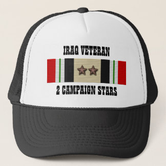 2 KAMPAGNEN-STERNE/HUT/DER IRAK-VETERAN TRUCKERKAPPE