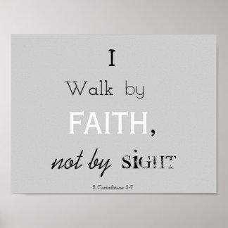 2 Korinther-5:7 Poster