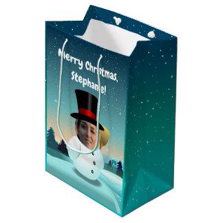 2 lustige Snowmen besonders angefertigt mit Ihren Mittlere Geschenktüte