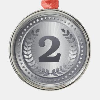 2. Platzsieger der Silbermedaille Silbernes Ornament