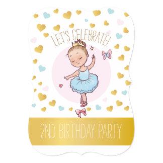 2. Prinzessin Ballerina des Geburtstags-Party-| im Karte