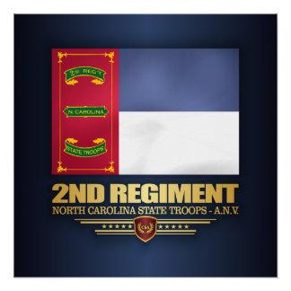 2. Regiment, Nord-CarolinaStaats-Truppen Perfektes Poster