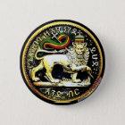 """¼ 2"""" runder äthiopischer Löwe des Judah Runder Button 5,1 Cm"""