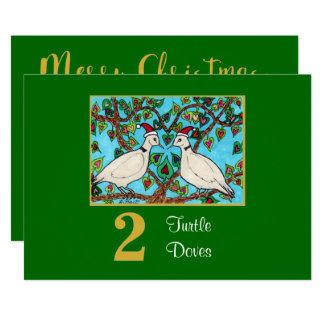 2 Schildkröte-Tauben-niedliches Karte