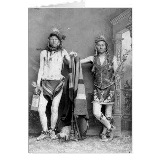 2 Shoshone-Männer Karte