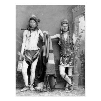 2 Shoshone-Männer Postkarte