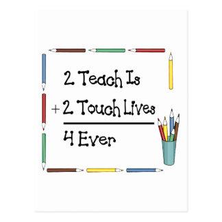 2 Teach ist 2 Touch-Leben 4 überhaupt Postkarte