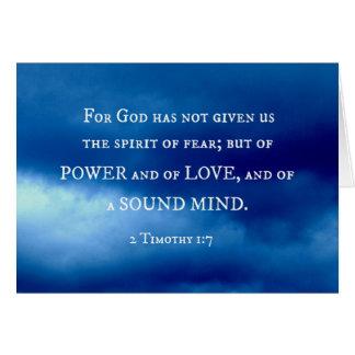 2 Timothy-1:7 für Gott hat gegeben nicht…. Karte