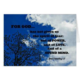 2. Timothy-1:7 für Gott hat uns nicht…. gegeben Karte